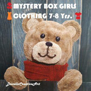👧MYSTERY BOX GIRLS 👗CLOTHING 7-8 Yrs.👚